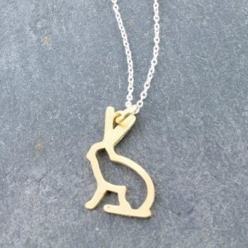 Hare Pendant - Reeves and Reeves - Monkey Puzzle Jewellery