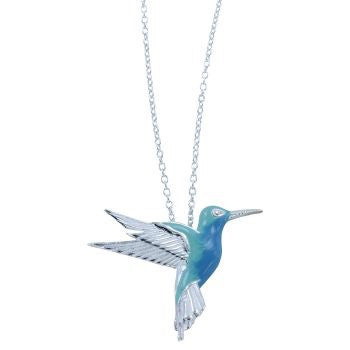 Humming Bird Necklace - Reeves & Reeves - Monkey Puzzle Jewellery