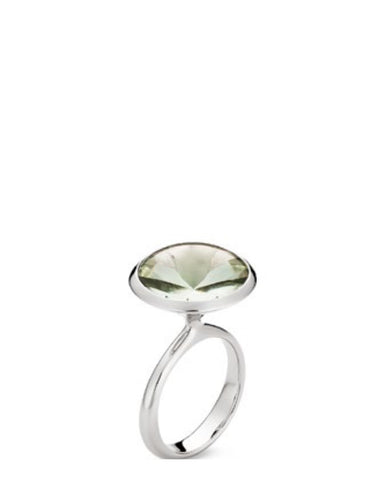Green Amethyst Ring - Cornerstone Creations - Monkey Puzzle Jewellery