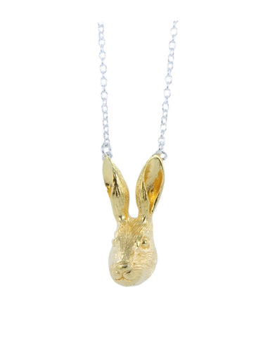 Hare necklace Gold - Reeves & Reeves - Monkey Puzzle Jewellery