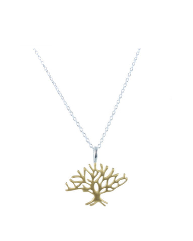 Winter Tree Necklace Gold - Reeves and Reeves - Monkey Puzzle Jewellery