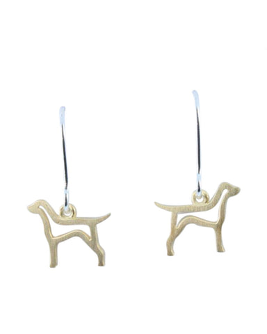 Gold Hound Earrings ( BB35) - Reeves & Reeves - Monkey Puzzle Jewellery