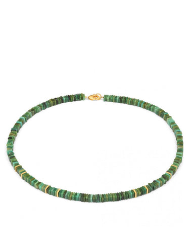 Turquoise And Gold Necklace - Bernd-wolf - Monkey Puzzle Jewellery
