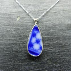 Blue and White Old Willow Pendant
