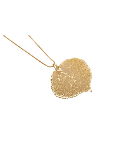 Gold Leaf Aspen Pendant. (72-ASGP) - Two Skies - Monkey Puzzle Jewellery