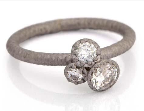 James Newman White Gold And Diamond Ring
