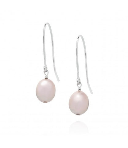 Baroque Drop White Pearl Earrings - Claudia Bradby - Monkey Puzzle Jewellery