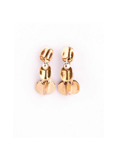 Gold Drop Earrings (JM284) - Janet Moran - Monkey Puzzle Jewellery