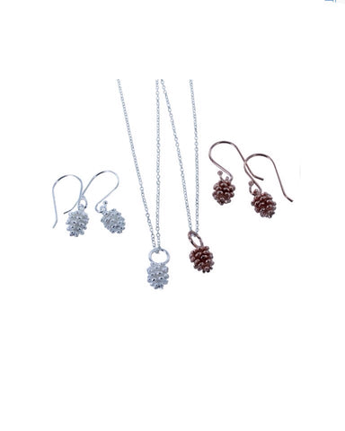 Fir Cone Necklace (BB60) - Reeves & Reeves - Monkey Puzzle Jewellery
