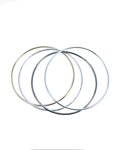 Plain Bangle Black (BS146BLK) - Reeves & Reeves - Monkey Puzzle Jewellery