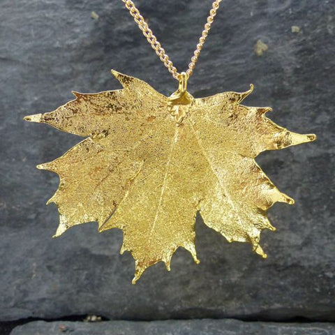 Gold Plated Canadian Maple Leaf Pendant