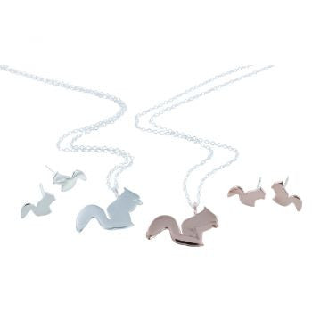 Squirrel Necklace Rose Gold - Reeves & Reeves - Monkey Puzzle Jewellery
