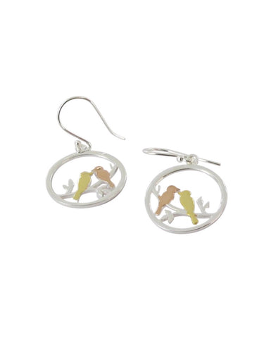 Lovebird Earrings - Reeves & Reeves - Monkey Puzzle Jewellery