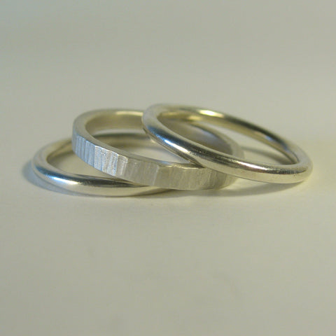 Linea Set Of Three Rings - McMaster and Tingley - Monkey Puzzle Jewellery