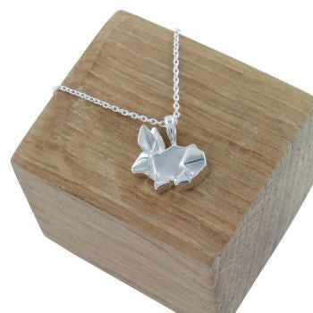 Origami Rabbit Necklace - Reeves & Reeves - Monkey Puzzle Jewellery