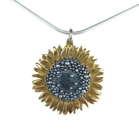 Sunflower Large Pendant - McMaster and Tingley - Monkey Puzzle Jewellery