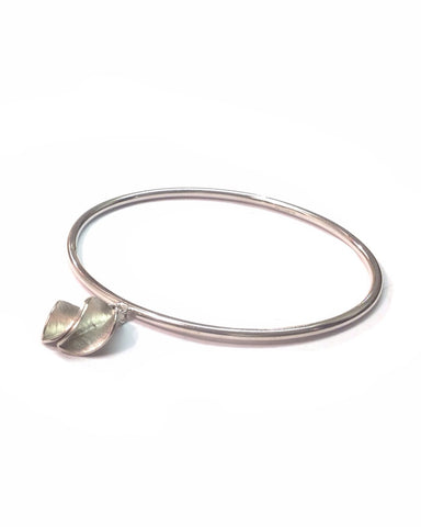Bangle with Silver Leaves - Collette Waudby - Monkey Puzzle Jewellery