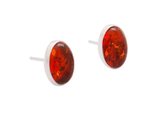 Amber Stud Earrings - Amber - Monkey Puzzle Jewellery