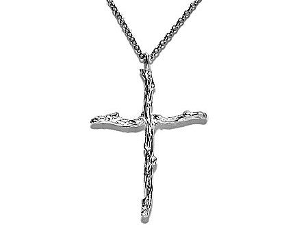 Twig Cross Necklace - Pretty Wild Jewellery - Monkey Puzzle Jewellery