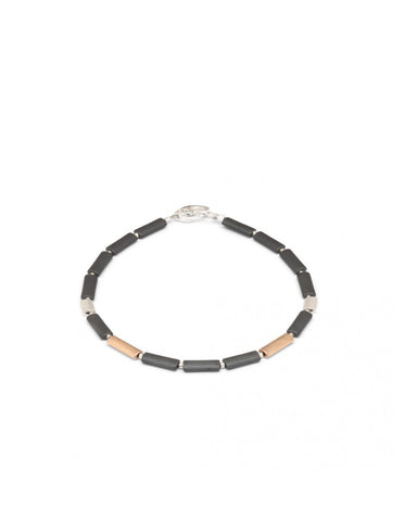 Hematite And Rose Gold Bracelet - Bernd-wolf - Monkey Puzzle Jewellery