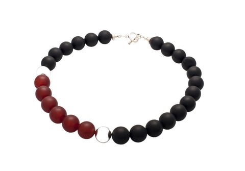 Carnelian And Black Onyx - Jan Allison - Monkey Puzzle Jewellery