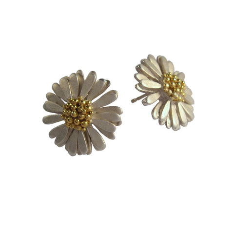 Large Daisy Stud Earrings - McMaster and Tingley - Monkey Puzzle Jewellery