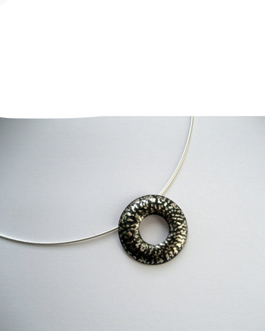 Blackwave Doughnut Pendant - Katharine Yelland - Monkey Puzzle Jewellery