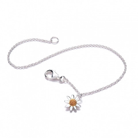 Classic Daisy Single Drop Charm Bracelet - Daisy - Monkey Puzzle Jewellery