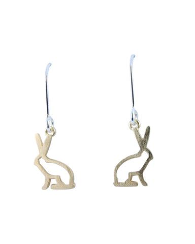 Golden Hare Earrings - Reeves & Reeves - Monkey Puzzle Jewellery