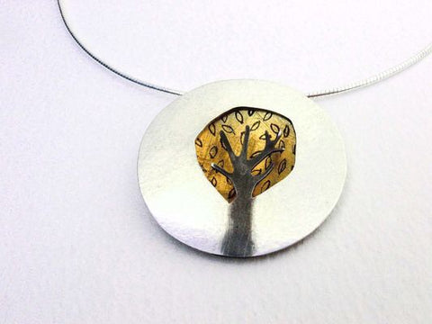 Gold Dome Tree Pendant