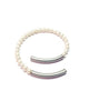 Pearl and Silver Magnetic Bracelet - Gina Frost - Monkey Puzzle Jewellery - 2