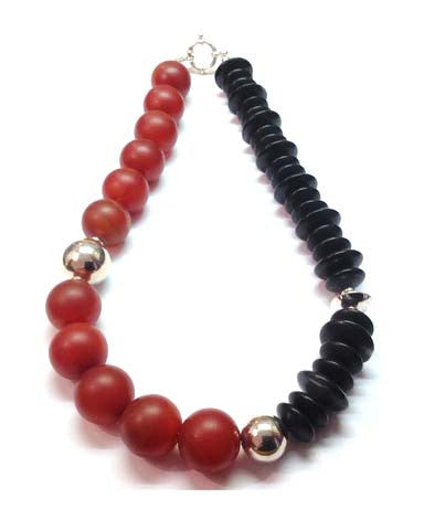 Carnelian and Onyx Necklace - Jan Allison - Monkey Puzzle Jewellery