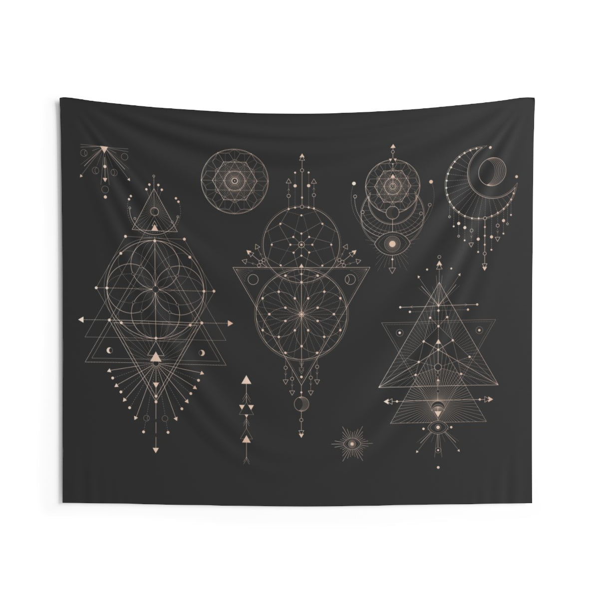 Spatial Moon Phase Tapestry
