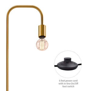 Exposed Gold Brass Bulb Floor Lamp