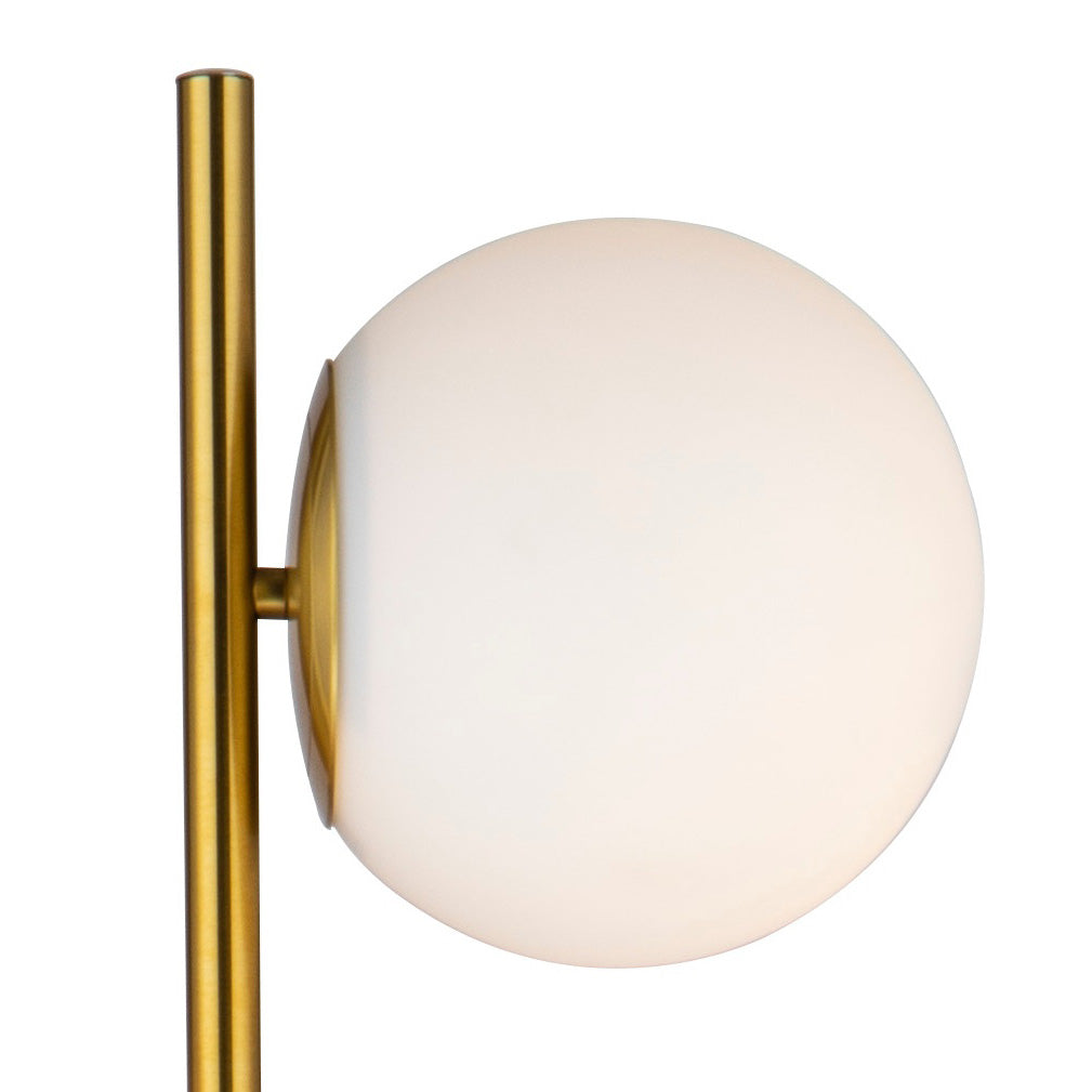 White and Gold Duo Globe Floor Lamp