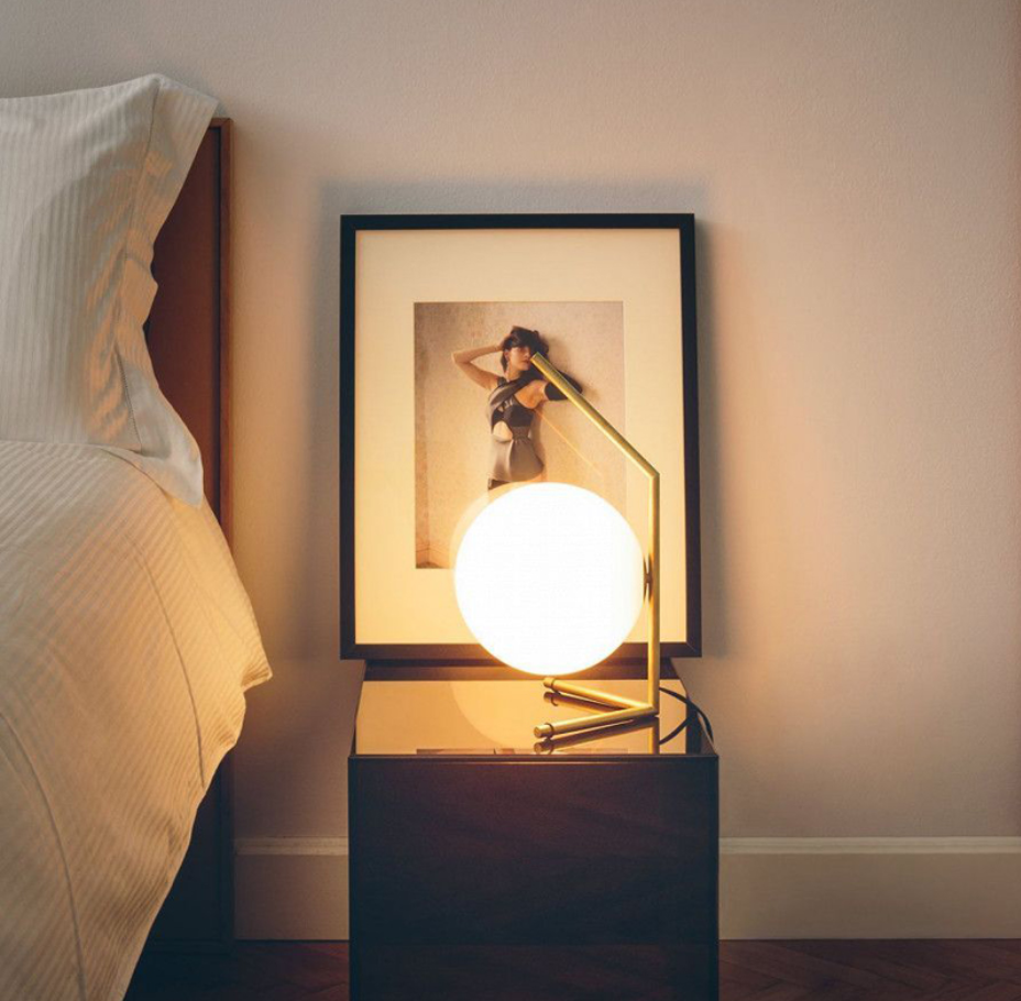 Modern Nordic Round Glass Table Lamp
