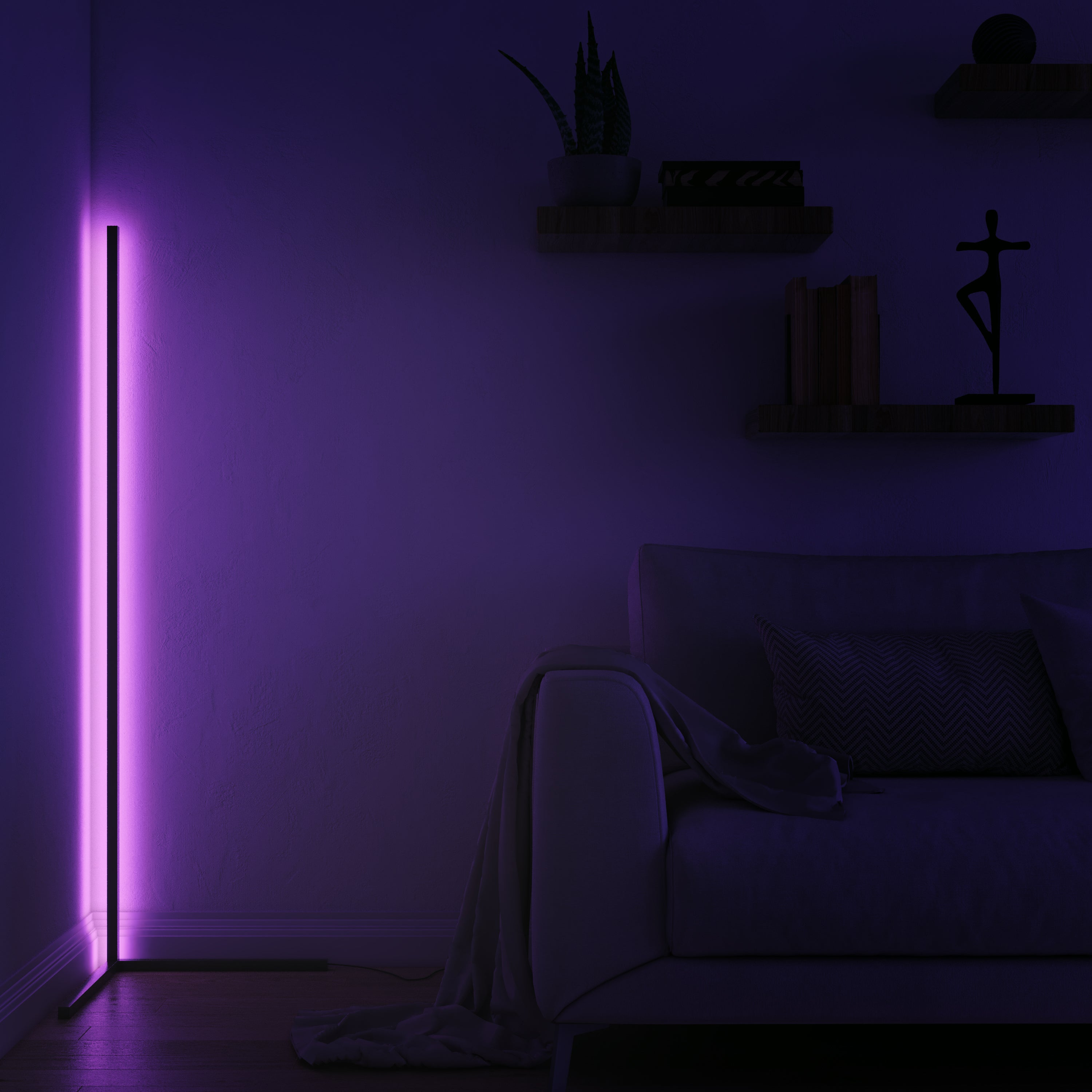 Minimal LED Corner Floor Mood Lamp