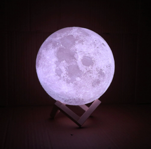 3D Printed Moon Light Table Night Lamp