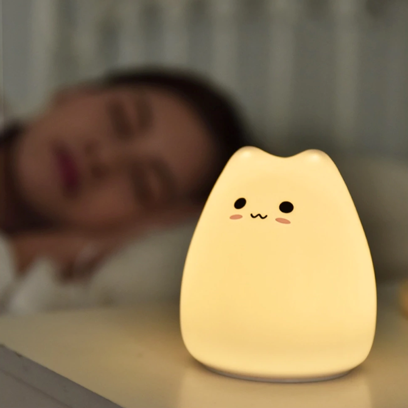 Cute Cat Soft LED Night Light