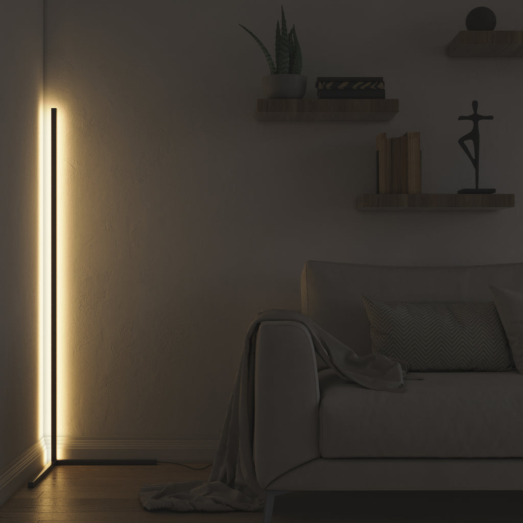 Minimal LED Corner Floor Lamp (Warm White)
