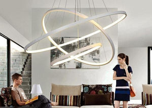 Dimmable Circular Rings Chandelier
