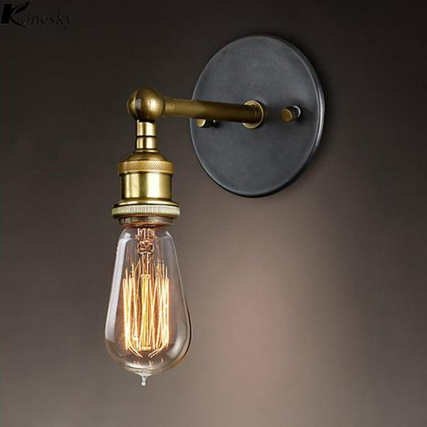Rustic Brass Wall Lamp