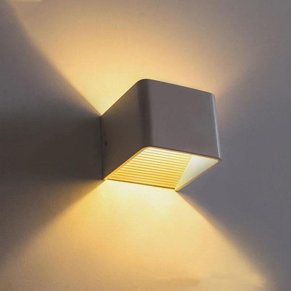 LED Up Down Cube Wall Lamp