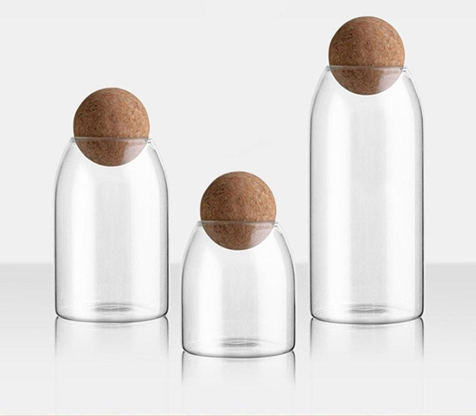 Pallo - Round Cork Storage Jar