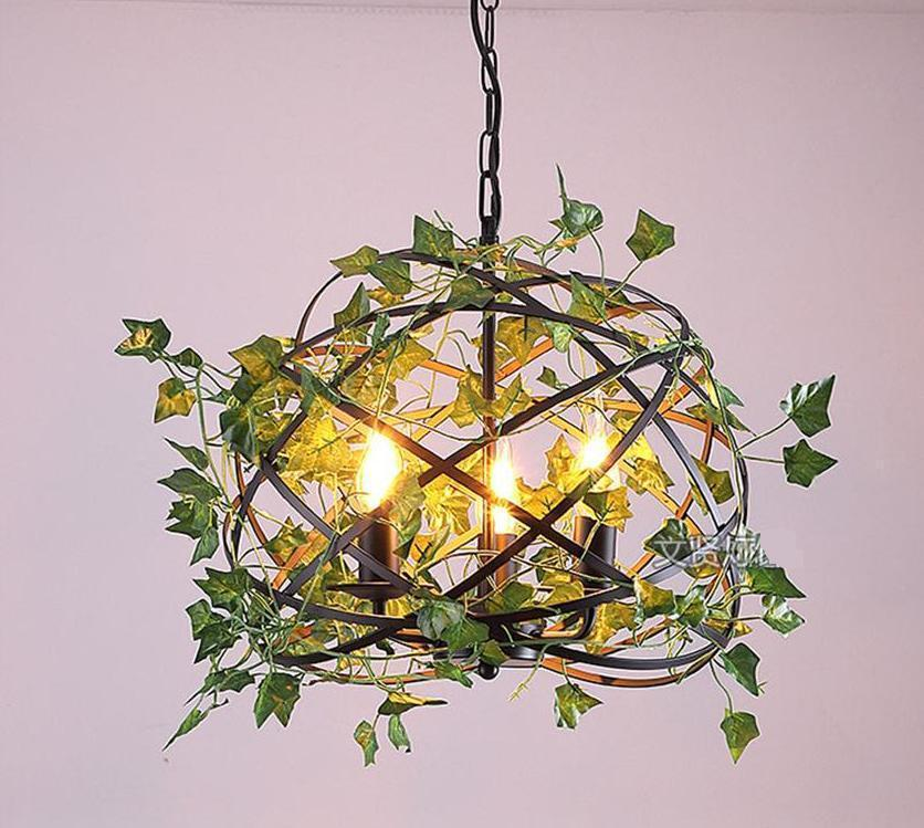 Vintage Industrial Bird Cage Hanging Lamp