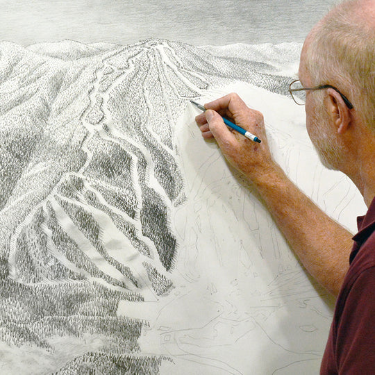 James Niehues sketching Gunstock