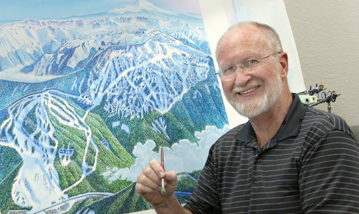 James Niehues Ski Map Artist