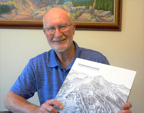 James Niehues with his copy of The Man Behind The Maps