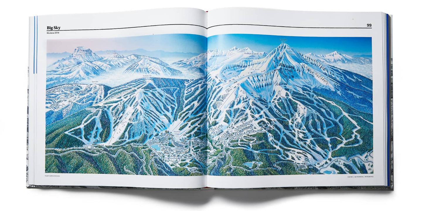 Over 200 Ski Trail Maps <br> One Legendary Artist
