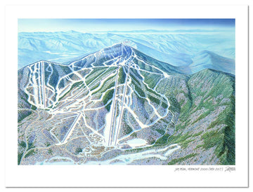 Jay Peak, Vermont |Jay Peak Ski Map | by James Niehues
